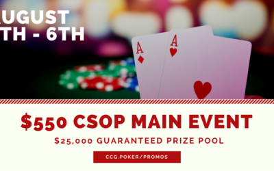 2017 CSOP Main Event Day 2 Chip Stack & Seating Assignments