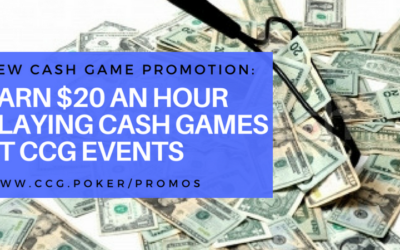 Earn $20 per hour playing No Limit Hold'em Cash Games!