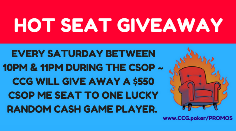 Hot Seat Giveaway