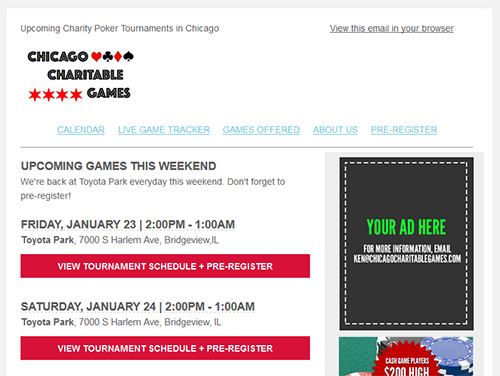 Email Advertising Opportunities Chicago Poker