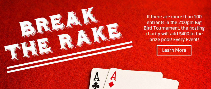 Break the Rake Promotion at CCG