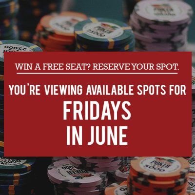 Free Seat Reservations in June - Fridays