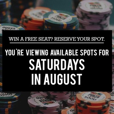 Free Seat Reservations in August - Saturdays