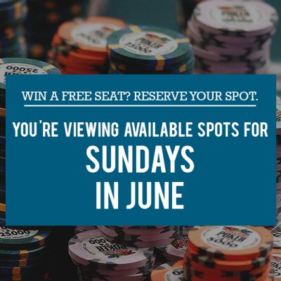 Free Seat Reservations in June - Sundays