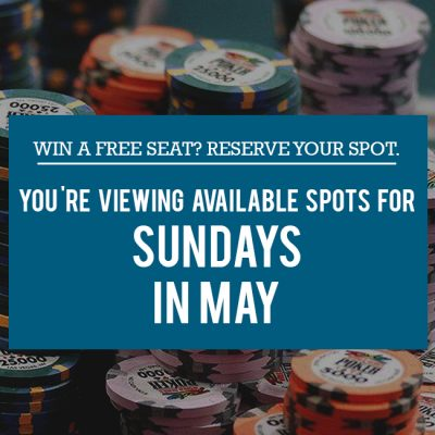 Free Seats Reservation - Sundays in May