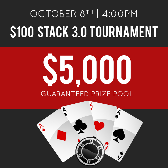 October Stack 3.0 Tournament with $5k Guarantee!