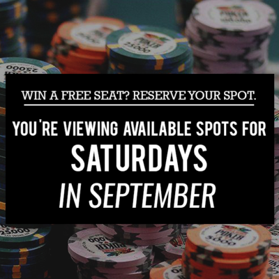 Free Seat Reservations: Saturdays in September