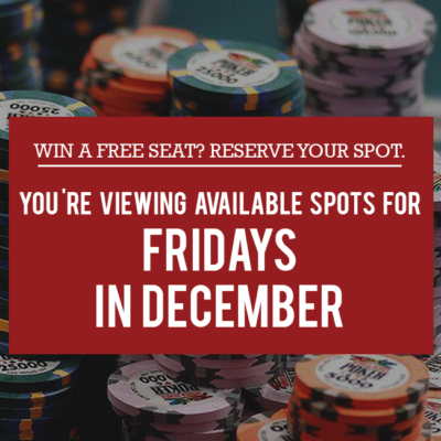 Free Seat Reservations: Fridays in December