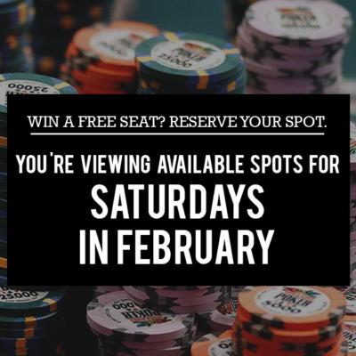 Saturday Free Seats in February