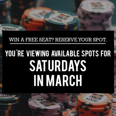 Saturday Free Seats in March