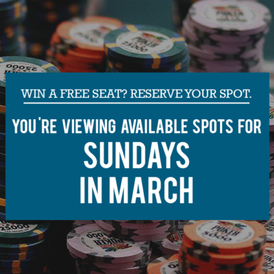 CCG Free Seats on Sundays in March