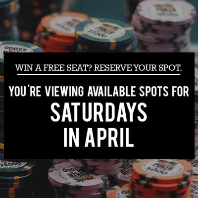 Saturdays in April - Free Seats