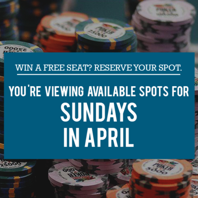 Free Seats - Sundays in April