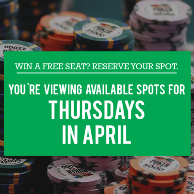 Thursdays in April - Free Seats