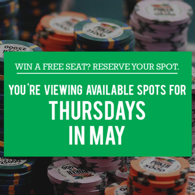 Thursdays in May- Free Seats