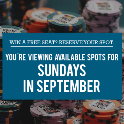 Sunday Free Seats in September