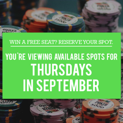 Thursday Free Seats in September