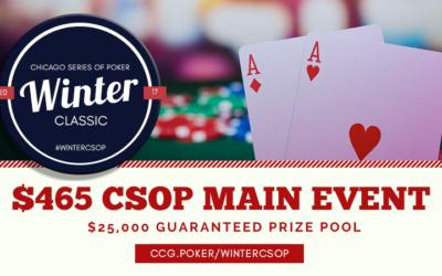 2017 Winter CSOP $465 Main Event $25K GNTD: Structure & Details