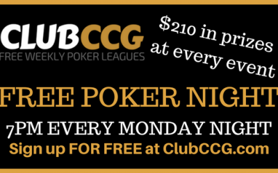 ClubCCG Freerolls are back on Monday's at the Rocking Horse!