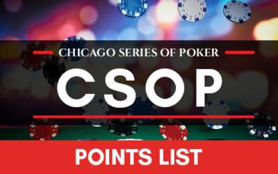 2017 CSOP Points List