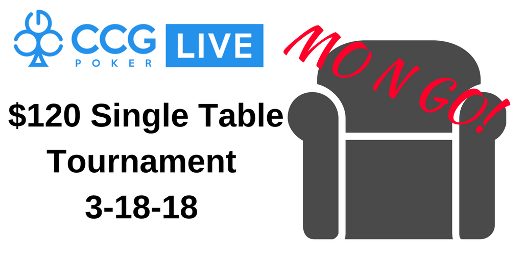 The MO n GO single table tournament LIVE: