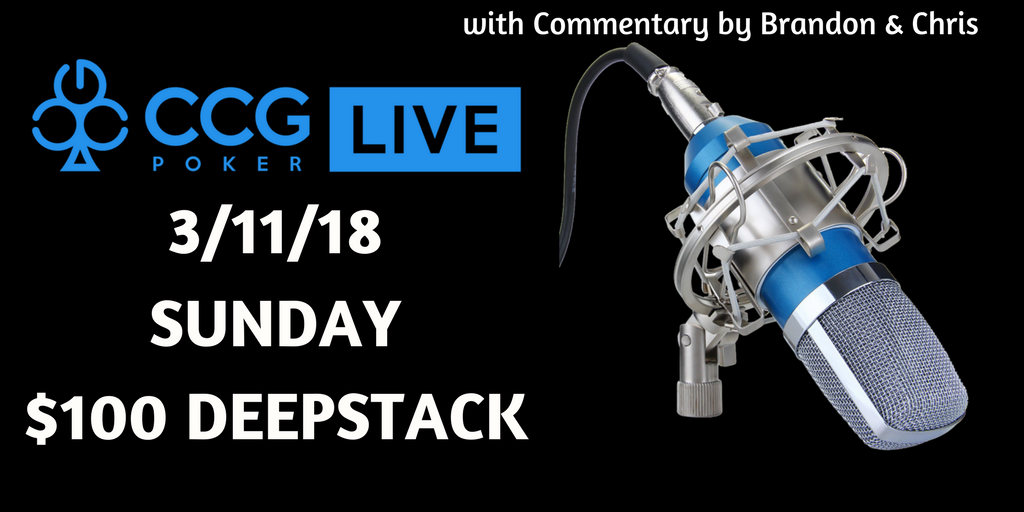 CCG Poker LIVE: our first TV Final Table with commentary by Brandon and Chris