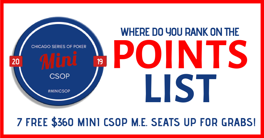 2019 MINI CSOP POINTS LIST