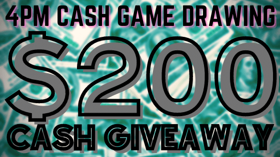 $200 Cash Game giveaway